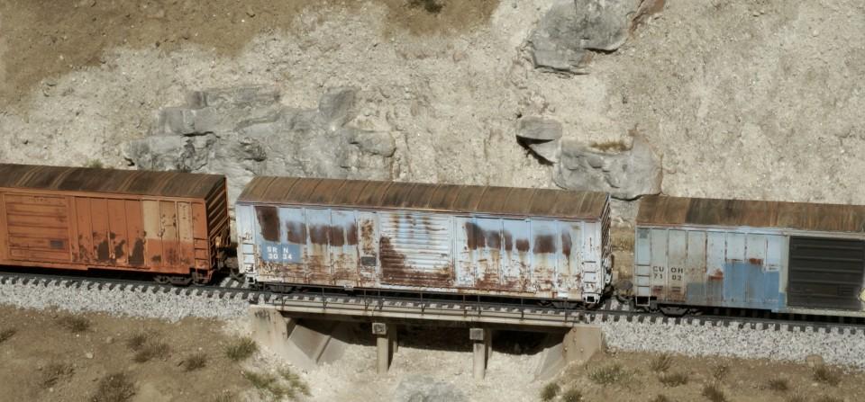 HO Scale Bridge Scene